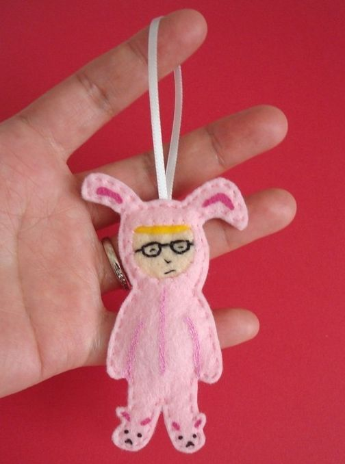 Ralphie Christmas ornament - best ornament ever? | From made by gwen @Etsy.