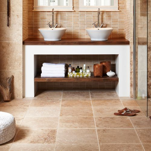 108 best images about flooring on pinterest natural stone flooring travertine and tile flooring Natural stone bathroom floor