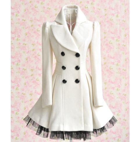 Winter Dress: Fashion, Style, White Coats, Dresses, Audrey Hepburn, Jackets, Peacoats, Winter Coats, Ruffles