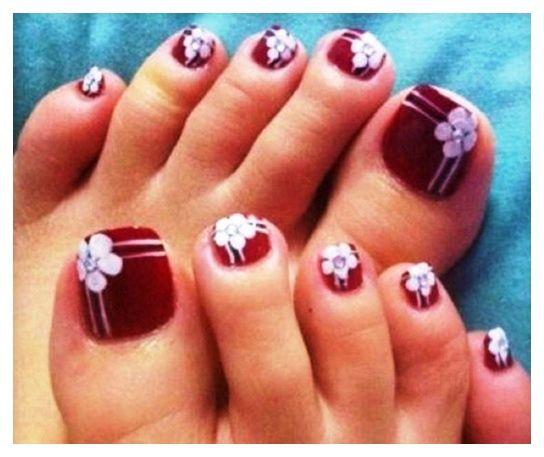 Easy Toe Nail Art Designs: Best 25+ Simple Toe Nails Ideas On Pinterest