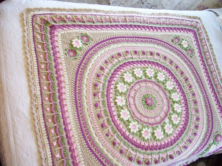 Square out the Mandala and any Round Throws to make it ...