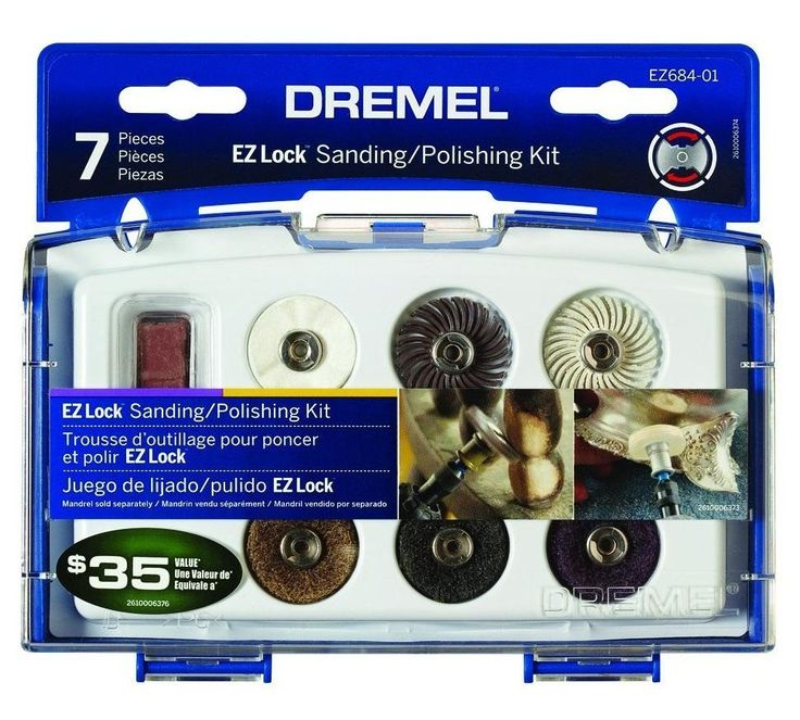 Dremel EZ684-01 EZ Lock Sanding/Polishing Kit