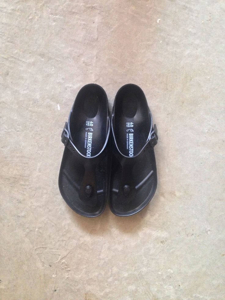"""Women's black Eva toe post Ethylene vinyl acetate - EVA for short - is a particularly durable and safe plastic that is produced byBIRKENSTOCK """"made in Germany."""