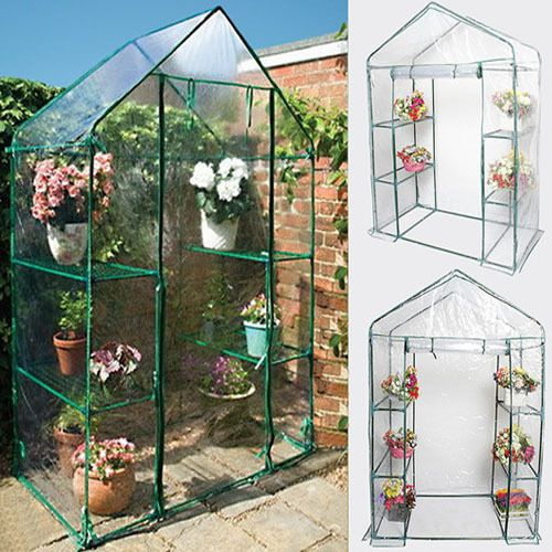 Portable-4-Shelves-Walk-In-Greenhouse-Outdoor-3-Tier-Green-House-New