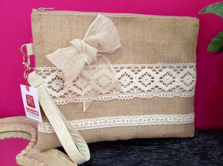Cartera maxi de tela de saco de rosana 39 s patchwork - Tela de saco ...