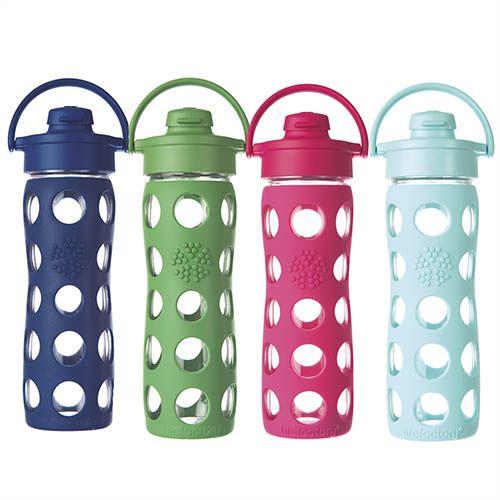 Glass water bottle with flip top 16 oz midnight blue for Easy break glass bottles