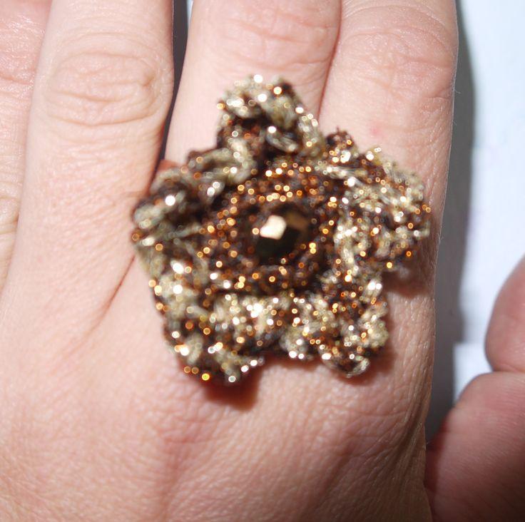 crochet big starfish ring