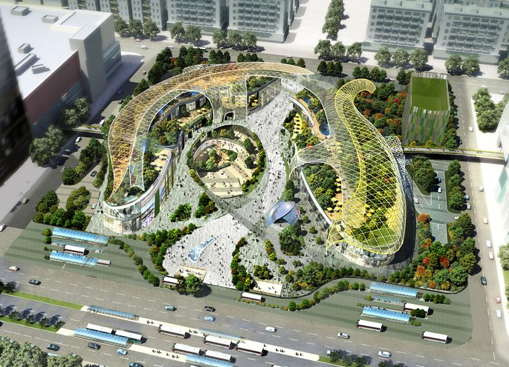 Parc Central, Guangzhou, China Set at the heart of the city's new CBD, this will be China's first 'urban park' retail mall. With verdant, undulating landscaping, the scheme will introduce visitors to a truly unique shopping, entertainment, dining and lifestyle concept. The vision is to create a destination where business and community mix together in an environment rich in character and distinct to Guangzhou.