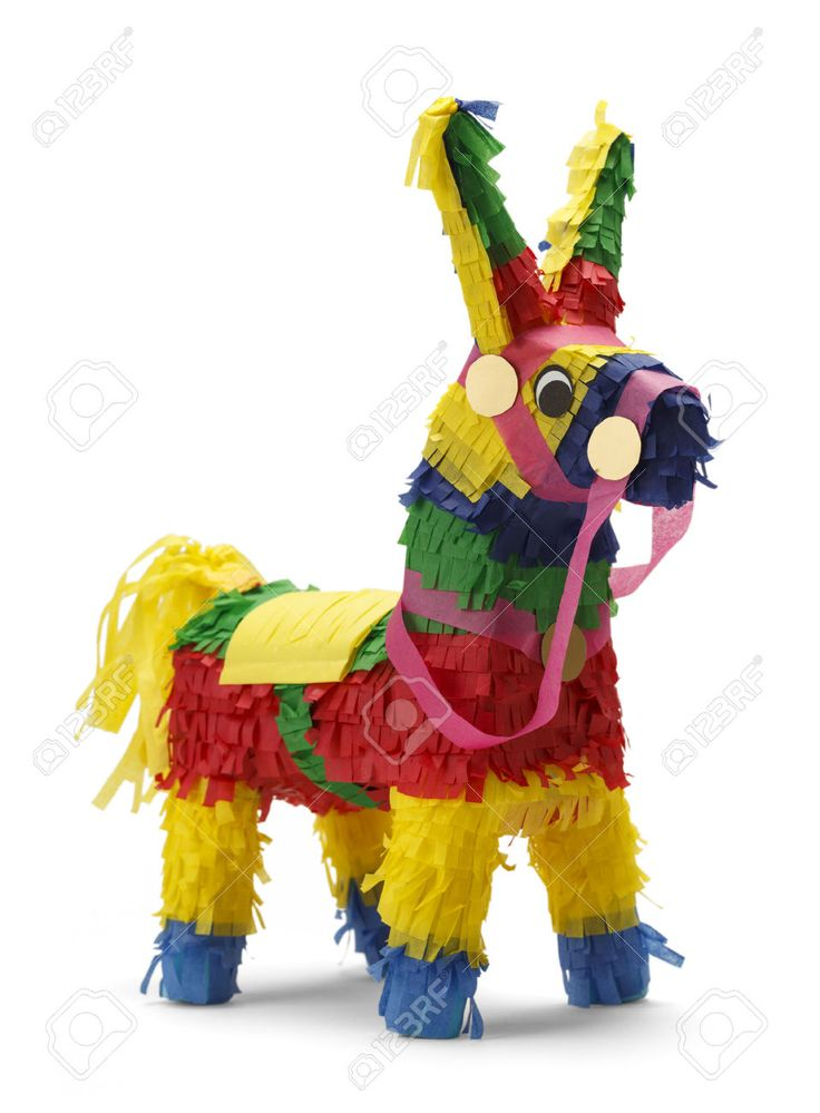 Mexican Donkey Pinata Isolated on White Background. Stock Photo - 38248827