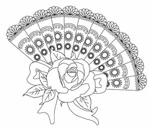 coloring pages fan | 1000+ images about Fans on Pinterest | Coloring books ...