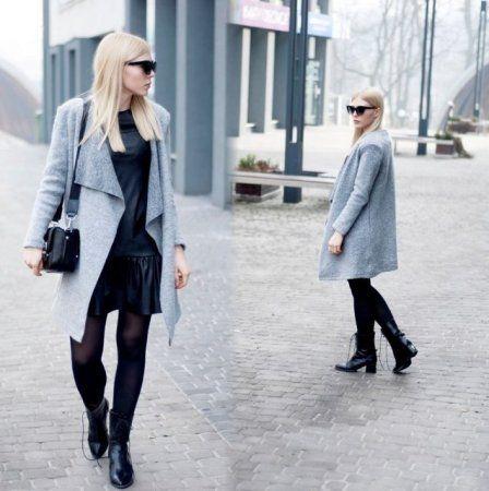 Gray coat -  więcej na www.STYLIZACJE.pl