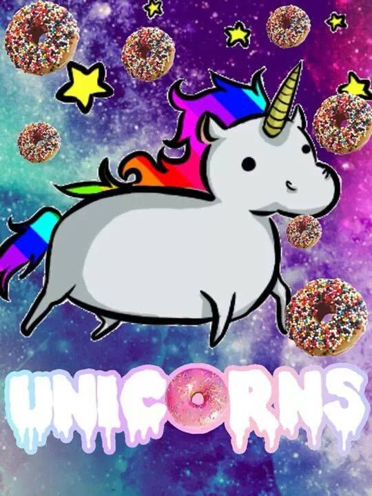 Not real sure what donuts have to do with unicorns but it made me laugh. Very hard. Lol!
