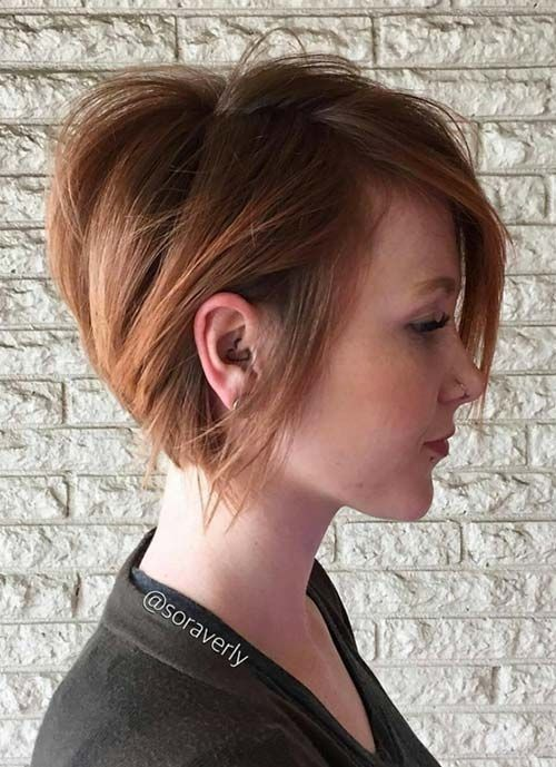 Straight Short Haircut for Thick Hair - Women Short Hairstyles