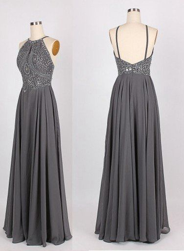 Grey Prom Dresses Graduation Party Dresses Formal Dress For Teens BPD0048