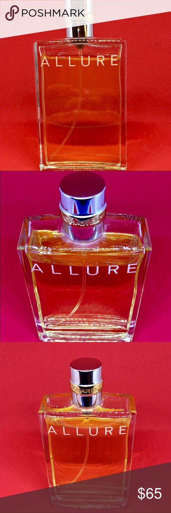 Chanel 💕ALLURE Eau De Toilette, 3.4 oz Chanel 💕ALLURE Eau De Toilette, 3.4 oz Description Clean and sheer, warm and sexy. Difficult to define, impossible to resist. Lighter, more relaxed fragrance form is designed for lavish use all over the body.  Only worn twice as shown in the pictures above brand new product!! Message me for any questions!! ❤️ Happy holidays!!! ☺️🌲❄️🤶🎅 CHANEL Other