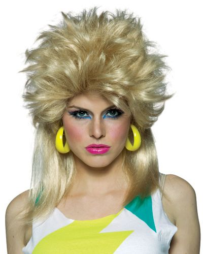 Hockey Hair Wig mullet 80s eighties rockstar - Racheshop.