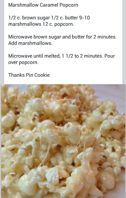 Marshmallow popcorn I keep losing this recipe. SOOO good!