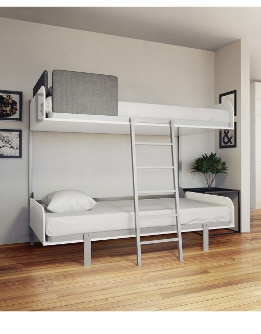 Hover Compact Folding Wall Bunks Open Bunk Beds With