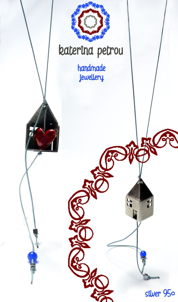 Home Sweet Home Necklaces, Silver 950