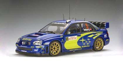 AutoArt 1:18 2005 Subaru Impreza WRC #5- Solberg/Mills- Rally Monte Carlo diecast car