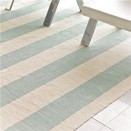 Cabana stripe rug in beach blue