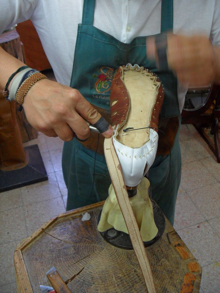 cucitura guardolo pelle intersuola cuoio