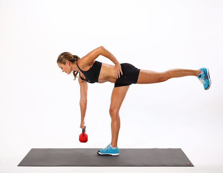 Deadlifts ~ the strength training move simultaneously works the core, back, butt, upper body, and legs.