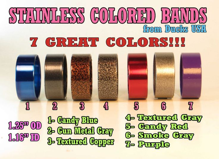 Duck Call Stainless Bands Custom Powder Coat Colors Only $2.87 each #DucksUSA