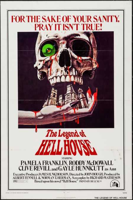 """The Legend of Hell House (20th Century Fox, 1973). One Sheets (2) (27"""" X 41""""). Horror. Starring Pamela Franklin, Roddy McDowall, Clive Revill, Gayle Hunnicutt, Roland Culver, Peter Bowles, and Michael Gough. Directed by John Hough."""