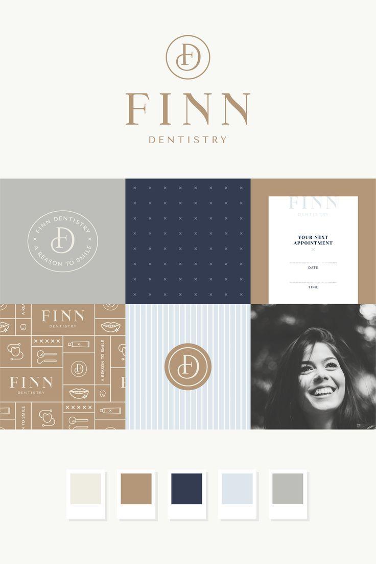 Finn Dentistry Brand Design Pace Creative Design Studio Logo Logodesign Branding Brand Design Studio Logo Logo Inspiration Branding Hotel Logos Branding