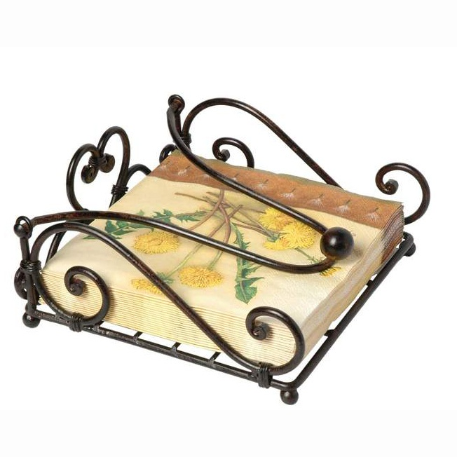 Heart Serviette Holder In Wrought Iron   Pretty And Practical Too.