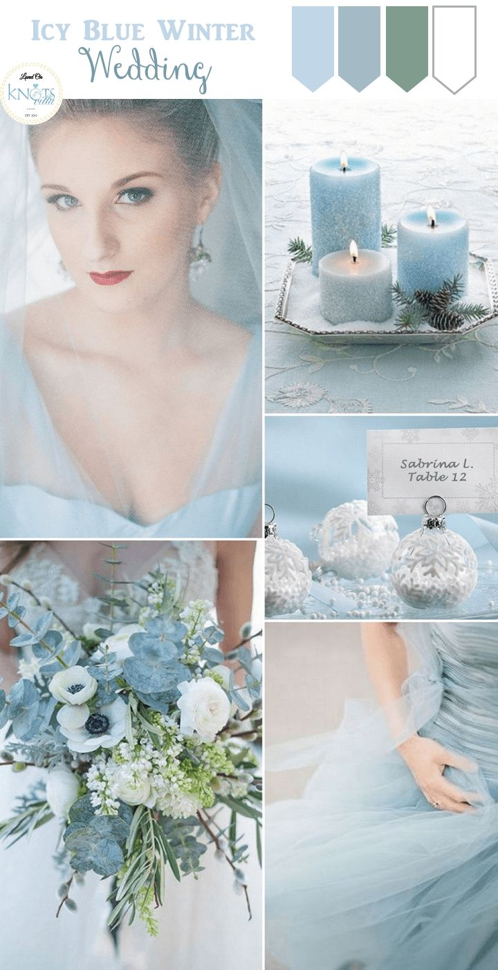 ICY BLUE WINTER - Top Color Inspiration Boards of 2015 - KnotsVilla