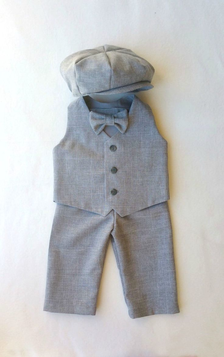 Baby Boy Suit, Gray Baby Suit, Grey Ring Bearer, Boys Suit, Gray Wedding, Heather Suit, Toddler Suit, Page Boy, Grey Boys Suit, Infant Suit by fourtinycousins on Etsy https://www.etsy.com/listing/177136757/baby-boy-suit-gray-baby-suit-grey-ring