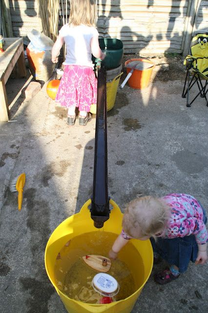 running water station.  I think I would change it a little, but looks like summer fun!!