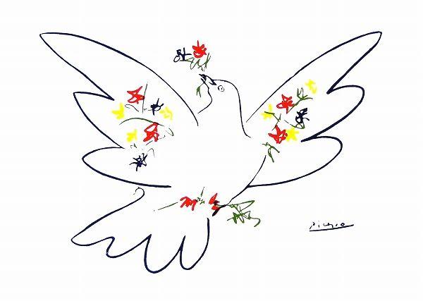 パブロ・ピカソ『花と鳩』