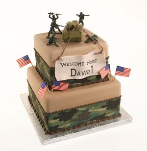 Welcome Home Soldier Cake ... maybe with a toy blackhawk?