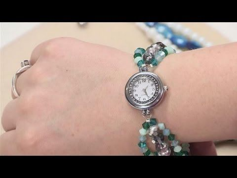 youtube how to make a beaded watch