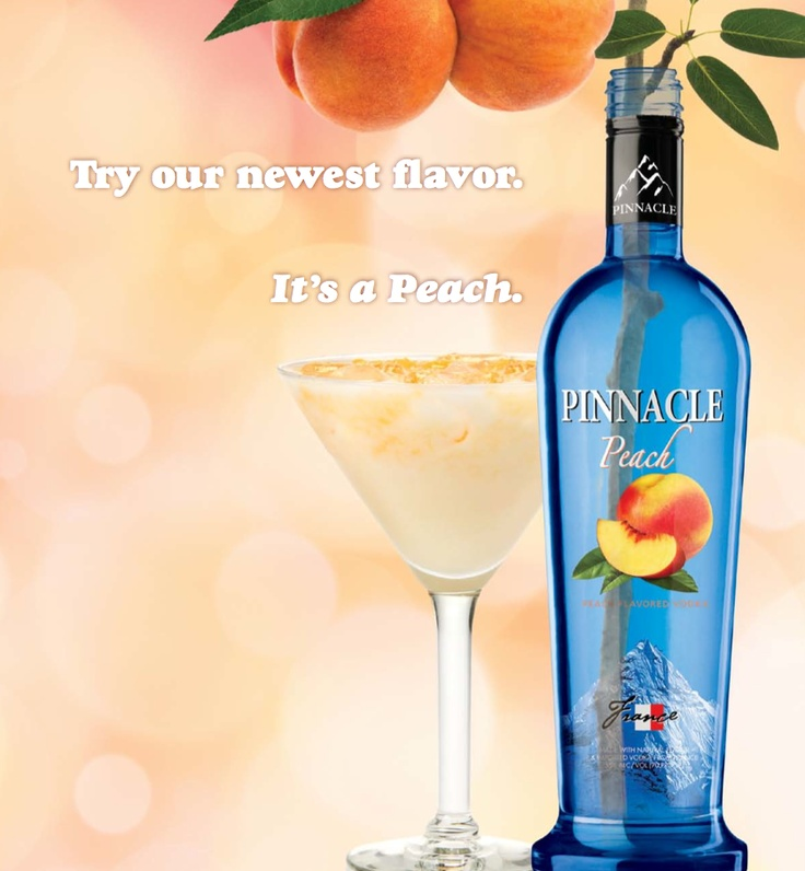 Add a little summer to your cocktails.  Pinnacle Peach is a refreshing mix of imported vodka and the taste of juicy peach. Life's a peach!