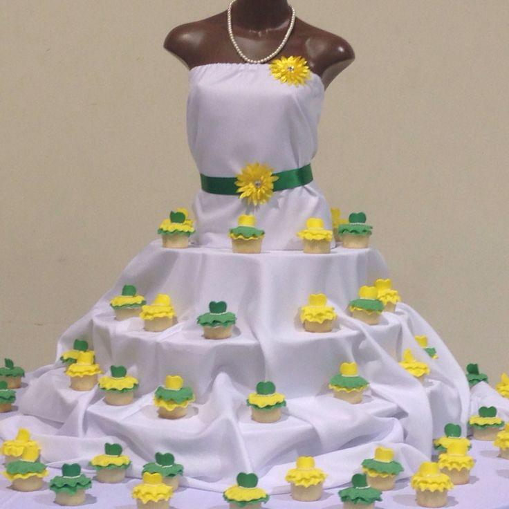 Chi Eta Phi Lady Cupcake Display
