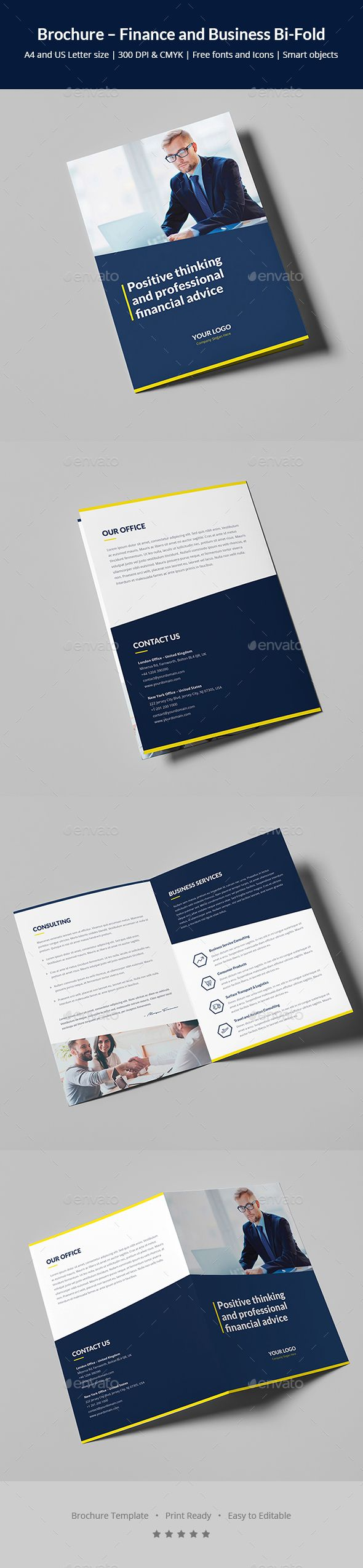 Brochure – Finance and Business BiFold #advice #corporate  • Download here → https://graphicriver.net/item/brochure-finance-and-business-bifold/20633281?ref=pxcr