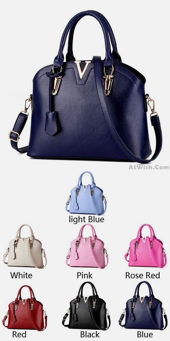 ad726c7817f8 New Lady Simple Tote  Purse Shell Leather Messenger Bag  Handbag Shoulder  Bag for big