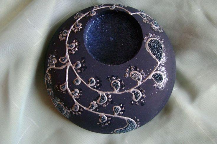 Suport lumanari decorate - model 1
