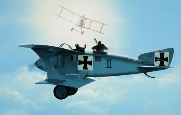 Ww1 Aviation Art Ww1 Dogfight Art Painting Drawing