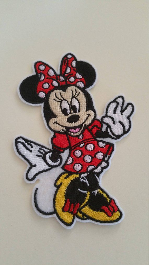 DISNEY MINNIE MOUSE EMBROIDERED APPLIQUÉ PATCH SEW IRON ON #