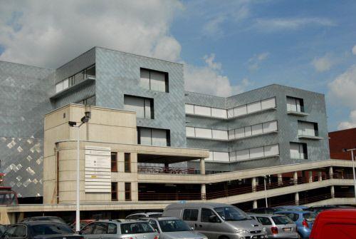 Hospital, Leuven (Belgium) by Stéphane Beel Architecten  Contractor: Heijmans & Stadak  #VMZINC #Architecture #Project #Zinc #Belgium #Hospital