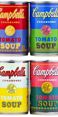 limited edition Andy Warhol Campbell soup cans