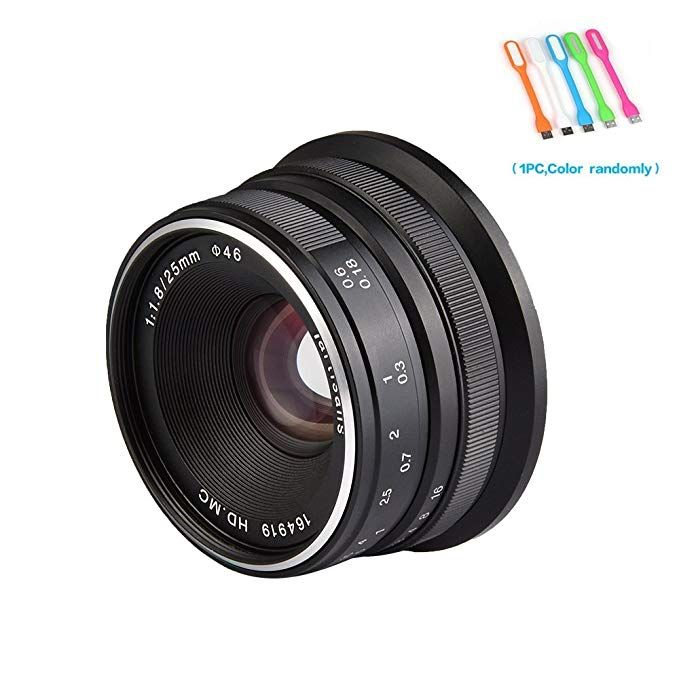 7artisans 25mm F1 8 Large Aperture Manual Focus Prime Fixed Lens For Olympus And Panasonic Microa M4 3 Cameras Blac Fixed Lens Digital Camera Lens Manual Focus