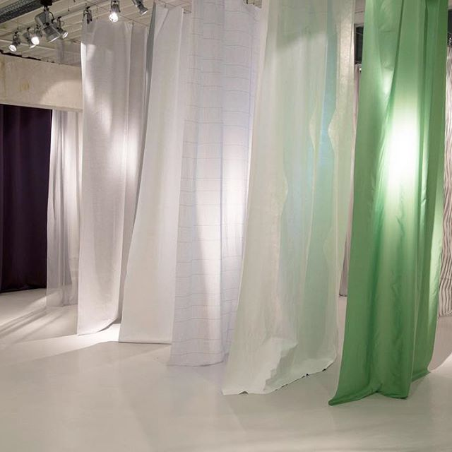 A textile dreamscape.  The ethereal CONSTRUCTURE collection breezes into the space at last year's Kinnasand launch.