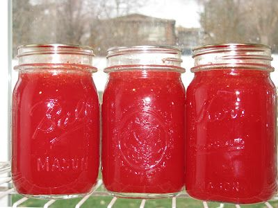 Strawberry lemonade concentrate from my favorite canning website: sbcanning! Can't wait to try this!