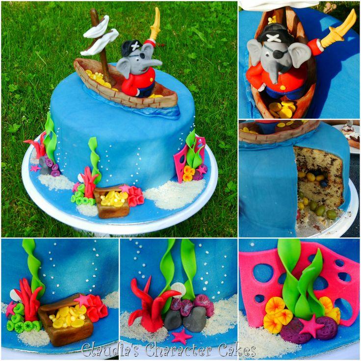 Benjamin Blümchen als Pirat Torte | Benjamin the Elephant Cake